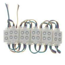 Factory OEM 4pcs SMD 5050 RGB DC12v <strong>1W</strong> IP65 7 color <strong>Led</strong> <strong>Module</strong> <strong>LED</strong> Sign Advertisement changing color RGB Injection <strong>led</strong> <strong>module</strong>