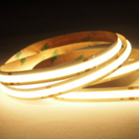 NEW Arrive easy cut CRI90 mini size 8mm 24V 12V full color range No Visible LED dots Popular flex COB LED Strip Lights