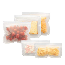 Reusable Zip Freezer Bags Preservation Silicone Seal Food Storage Bag