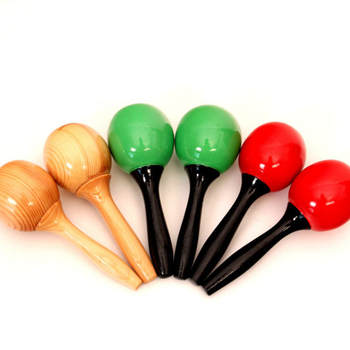 free sample Wholesale toys custom wooden baby musical instruments Education percussion instruments wooden maracas  for kids toy