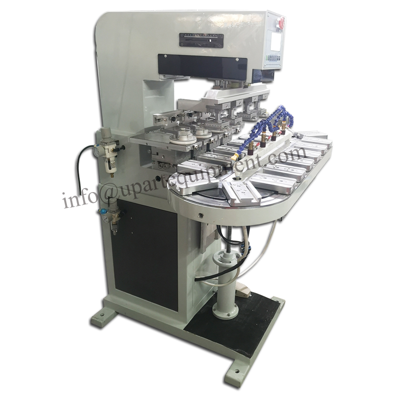 china <strong>manufacture</strong> 4 color turntable ink cup pad printing machine