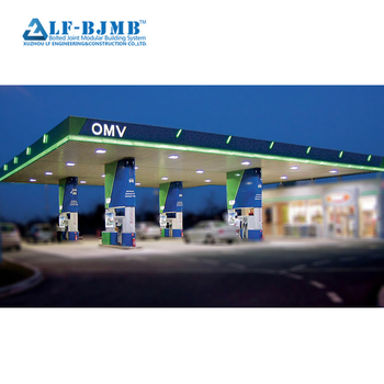 LF-BJMB Best price outdoor space frame gas station steel structure