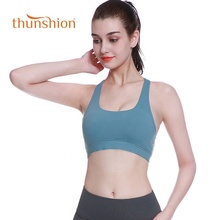 Dropship Dry Fit Running Yoga Crop Bra Top Gym <strong>Wear</strong> Cross Back <strong>Sports</strong> Bra With Removable Pad