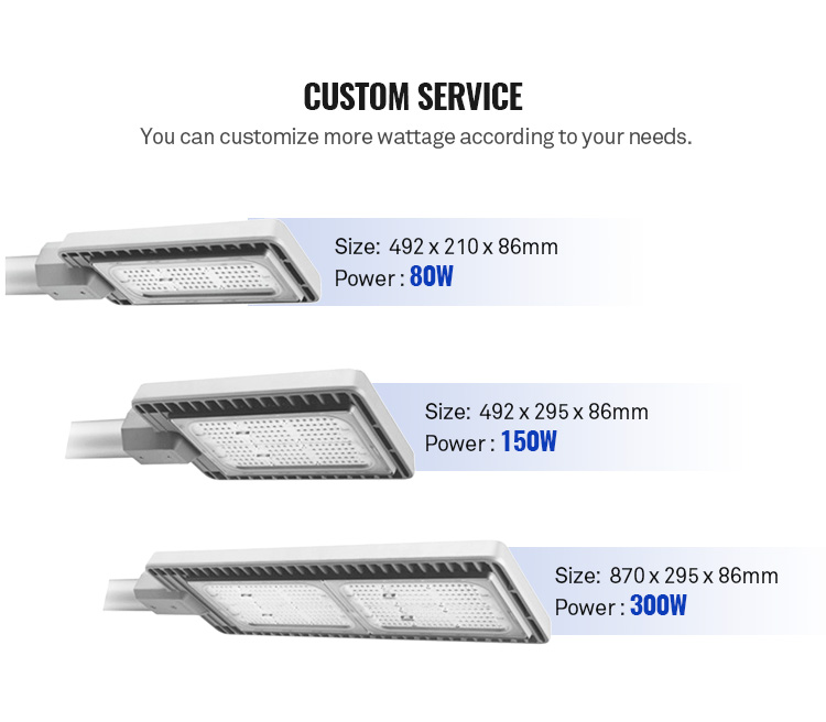 led street light outdoor manufacturers price 20w 30w 40w 50w 100w watt 120w 150w 200w 300w ip66 led street light