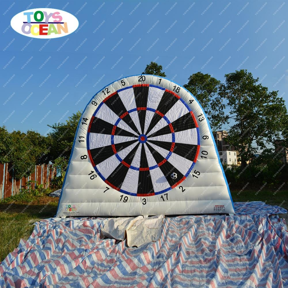 super new game inflatable soccer dart board football throwing games