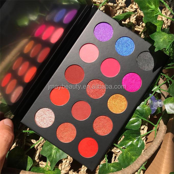 Private Label Make Up <strong>Cosmetics</strong> no brand wholesale makeup Pressed Glitter Eyeshadow blusher 15 colors