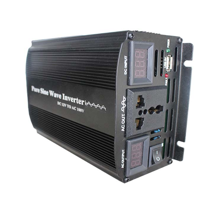 12v dc to 110 220v ac 50hz Pure Sine Wave Power Inverter 300w 600w 1000w 1500w 2000w 3000w