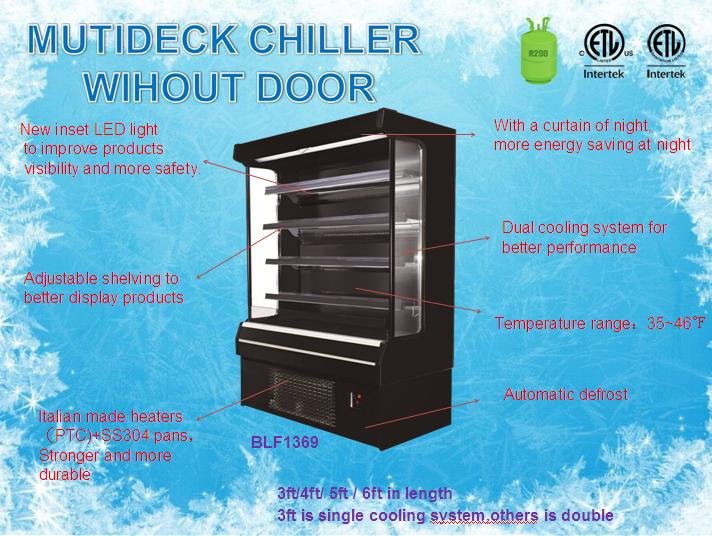 Mulitdeck merchandiser/Sliding door multideck chiller