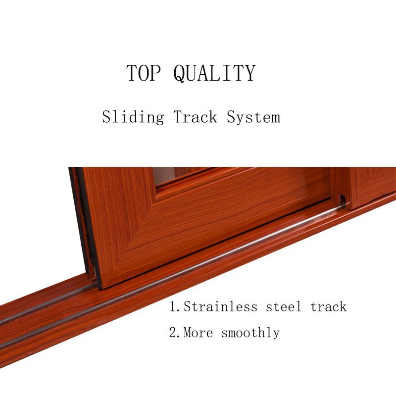 High Quality Heavy Duty Aluminium Glass Door Soundproof Aluminum Sliding Door