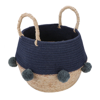 Natural Stock Product Baby Toy Seagrass Sea Grass beach Storage Basket With Handles