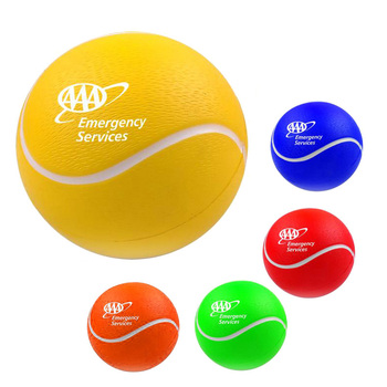 6.8 cm size custom design brand logo sport game gift training bounce reliever squeeze anti-stress toys soft PU foam tennis ball