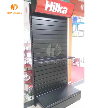 Retail display table Corrugated shelf Printed Cardboard Supermarket Tray pop up display stand with LED light