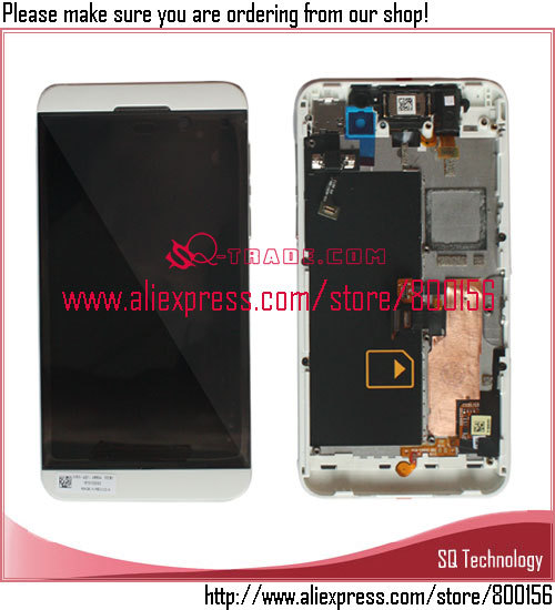 Hot selling repair parts for <strong>BlackBerry</strong> <strong>Z10</strong> 4G <strong>lcd</strong> display with touch screen digitizer assembly+frame