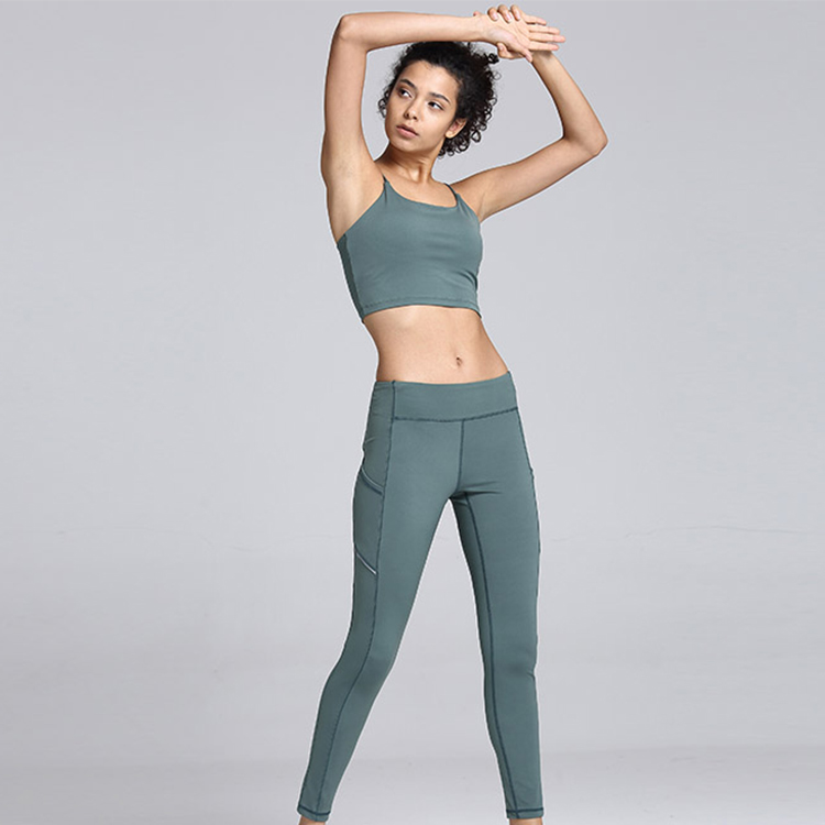 Women Gym Fitness Sportswear Bra and Pants Running Suit Weave Leggings yoga set