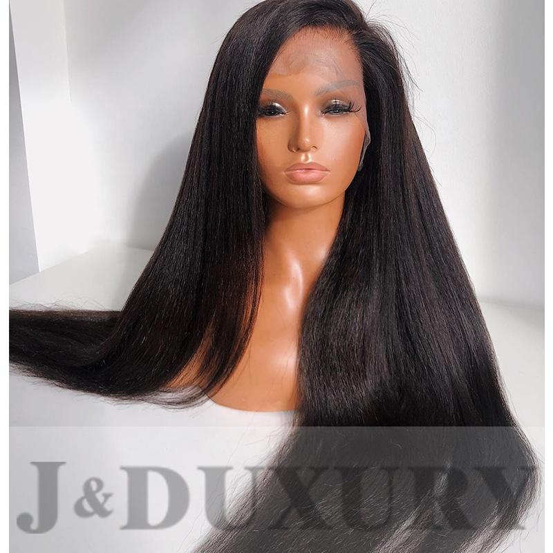 <strong>J</strong>&amp;Duxury factory wholesale hd lace wigs for black women silky straight 360 full lace transparent lace wig human hair wig