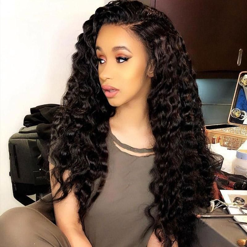 Free sample 150 Density Curly Human Hair Wig Sunlight Peruvian Remy Natural Short Curly Lace Front Human Hair Wigs for women
