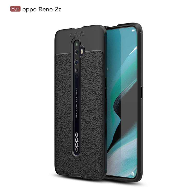 Top Selling Case For OPPO Reno 3pro 2 <strong>Z</strong> Soft TPU Silicone Leather Anti-knock Phone Case For OPPO Reno2 <strong>Z</strong> Cover