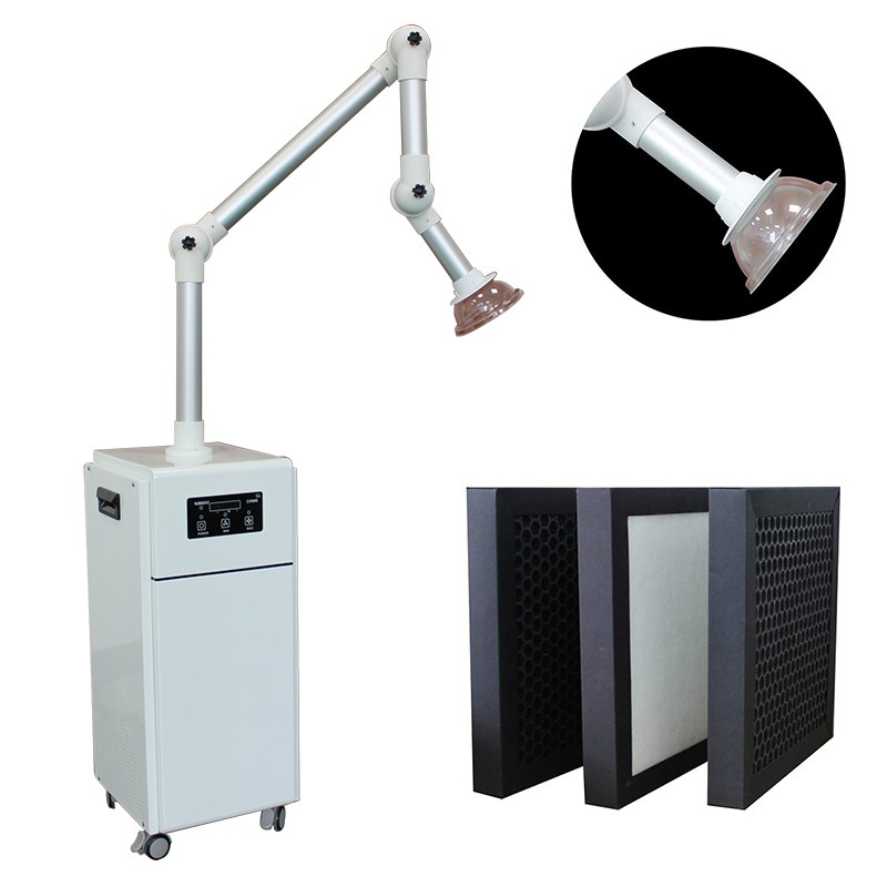 Dental external oral aerosol suction unit