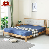 New Design Adult Loft Pu Fabric Customized Bed Solid Wood Bedroom And Hotel Furniture