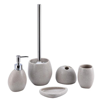 Good quality and price of modern new style hotel ceramic 5 piece bathroom set manufacturer