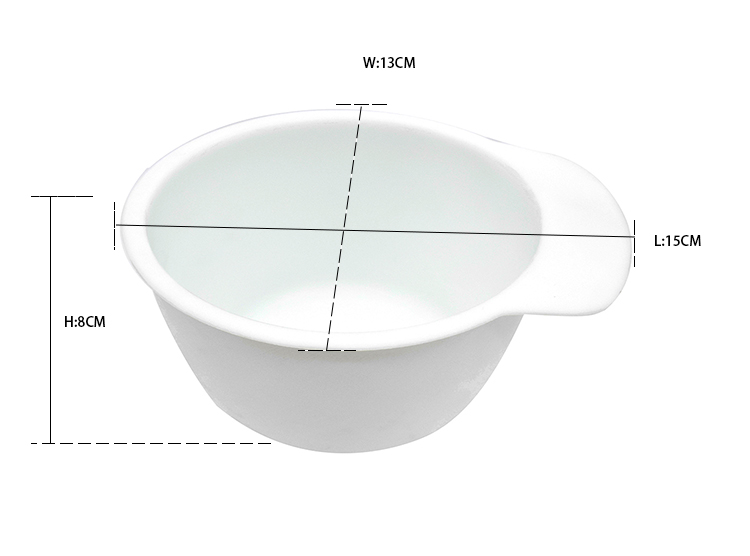 320ml white plastic Salon Hair Coloring bowl Dyeing beard Color Mixing Bowl Tint Tool