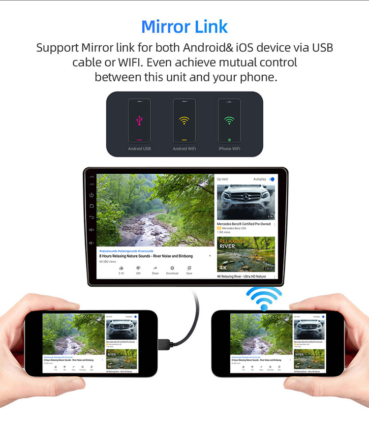 2 Din Car Radio Multimedia Android 8.1 Video Player Navigation GPS For Toyota 4Runner 4 Runner 2009-2019