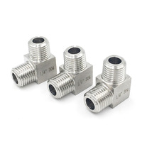 "3/8"" NPT Male x 3/8"" NPT Male Thread 90 Degree Elbow Stainless Steel Tube Pipe Compression Fitting"