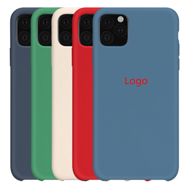 2019 New Offical Original Silicone For apple 7 8 Plus 11 pro max Phone Cases with logo, for iphone x silicone phone case