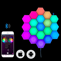 Phone APP controlled Smart Lighting Newest Trend Gift 16 million Color Hexagonal Led Light For Home Decorative