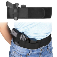 Adjustable Concealed Comfortable Carry Belly Band Gun Holster For Pistol Glock