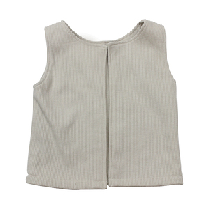 spring hot sale baby cute sleeveless round collar soft baby coat plain tops