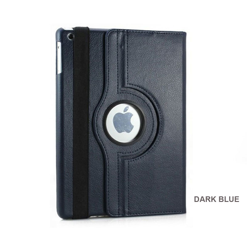 For <strong>iPad</strong> Case 360 Degree Rotating Stand Smart Case Multifunctional Sleep Flip High Quality PU Leather Tablet Covers Case