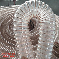 flexible spiral steel wire reinforced hose plastic transparent polycarbonate pipe for sale