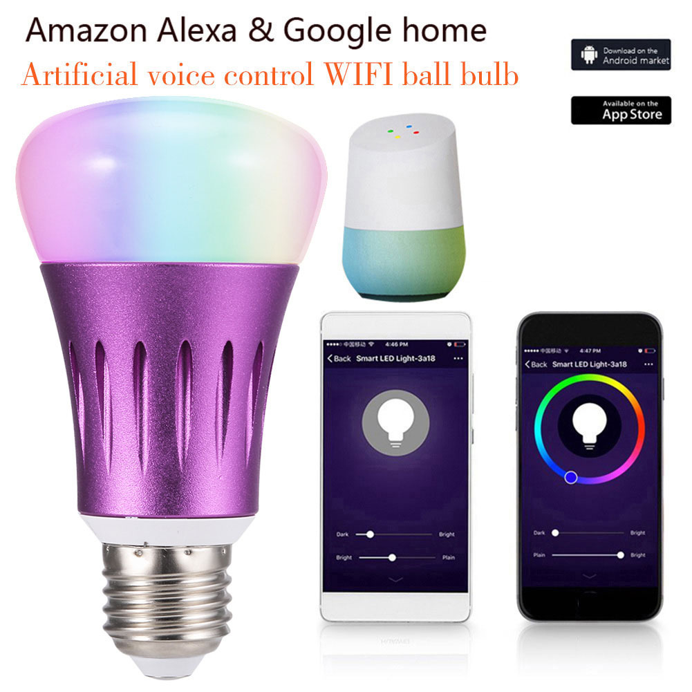 Smart Life Smart Wifi LED Bulb Light/E27 18W RGB Led Wifi Bulb