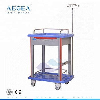AG-LPT006B CE ISO high strength new ABS material medical movable laboratory cart