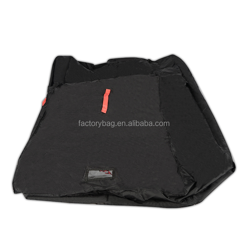Black Basic Light Weight Nylon Large Rectangular Waterproof Duffel Bag With Roomy Interior in Stock ideal for travel or Storage