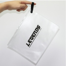 Custom Biodegradable Frosted PVC Ziplock Bag With Logo wholesale clothing cosmetic swimwear zipper packaging pouch