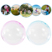 TPR Balloon Outdoor Transparent Bubble Ball Inflatable Toy Balls Super Tear-Resistant Inflatable Blow Up Inflate Sport Play Toys