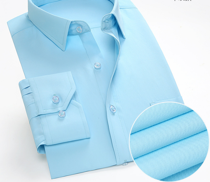 Manufacture High Quality Solid Color Men'<strong>s</strong> Regular Fit Dress Shirts With Long Sleeve