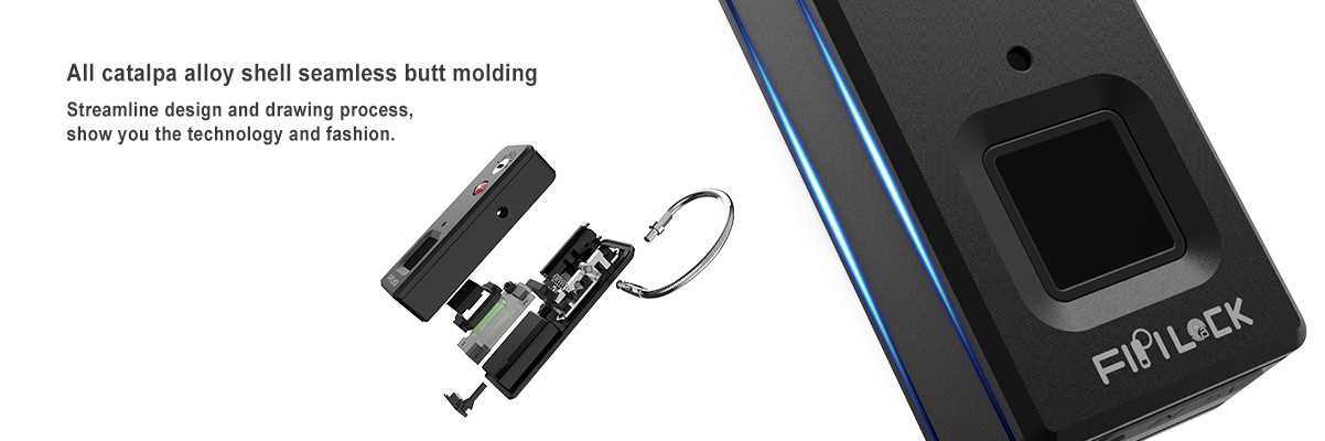 High technology multiple usage smart fingerprint padlock with gorgeous appearance