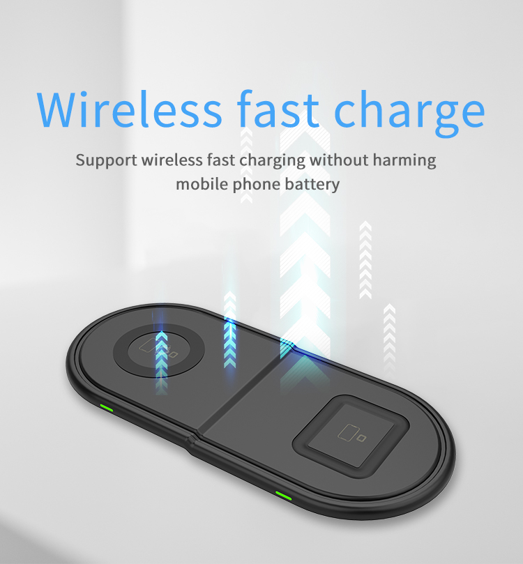 Fast qi wireless charging pad Ultra Slim 3 in 1 wireless charger for apple watch smart watch