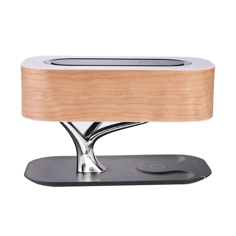 Mesun Modern LED Bed Side Table Lamp with BT Speaker and Wireless charger With <strong>Touch</strong> Switch