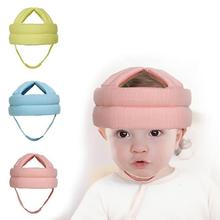Baby Linen Fabric Protective Hat Baby Toddler Head Protective Cap <strong>Safety</strong> Learn to Walk Cap Helmet Children Anti Collision Hat