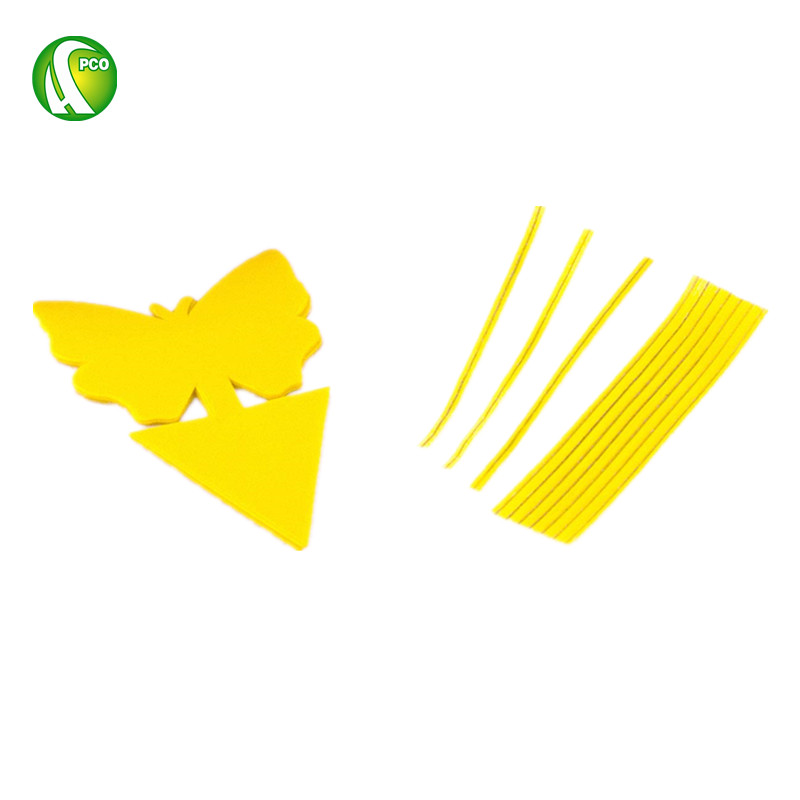 Butterfly Shape Yellow Dual Sticky Fly Traps for Gnat Whiteflies Fungus Gnats Small Insects Houseplant