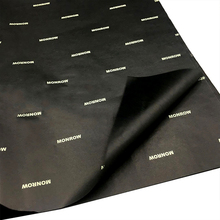 Custom gift packaging <strong>paper</strong> printed logo black tissue wrapping <strong>paper</strong> with white brand
