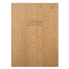 Wholesale Decoration Personalized Dinner Wood Menu Cover Restaurant