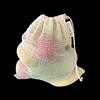 High Quality Cotton Mesh Pouches Drawstring With Label Bulk Cotton Net Bags
