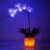 Table Lamp Artificial Dried Flowers Flower Decorative Purple Calla Lily Film Flower lamp