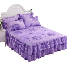 Floral Fitted Sheet Cover Graceful Bedspread Lace Fitted Sheet Bedroom Bed Cover Skirt Wedding Housewarming gift