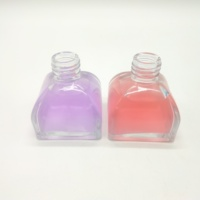empty 100ml round Aromatherapy bottles dry flower essential oil perfume glass bottle